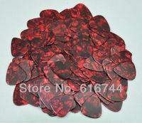 Lots of 50pcs New Standard Guitar Picks Plectrums Celluloid Medium 0.71mm Red Pearl