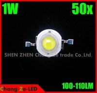 50pcs/lot 1w led epistar chip 100lm-110lm, Warm/White/cool. For spot light, bulb, flood light--Professional wholesale