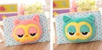 12PCS Kawaii OWL Plush 18*12CM Children School Gift Pen Pencil BAG ; Lady's Purse & Wallet Cosmetics Holder Pouch BAG Case