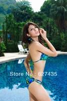 Wholesale!FREE SHIPPING!(10pieces) 100% Brand New Women's Sexy lingerie,Sexy Bikinis Set,Natural Push-up Halter Bikini,LC40405