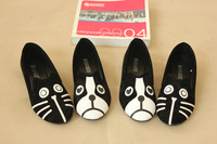 NEW Fashion Personality The Cat Dog Velvet Flat Comfortable Shoes Cartoon Shoe 35-39