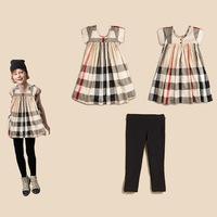 Retail Brand Girl's Formal Dress+PP Pants/Children's Sleeveless Cake Dress+Black Pants/Girl's Summer Clothes 2In Sets