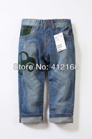 Car Children's denim pants Distrressed brand 2013 new fashion acid wash boys girls  jeans kids wholesale 6 Pieces/Lot