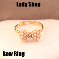 Fahion Korea bowknot Rings wholesale ! free shipping!!