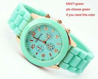 Trendy wrist watch,good materil,10 colors-green for your choice,usage for young people+Free shipping