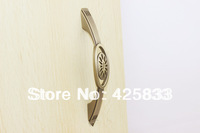 96mm Furniture Zinc Alloy Bronze Copper Plating  Kitchen Cabinet Drawer Pull Knob Handle Brushed Nickel Cabinet Knobs