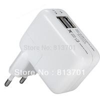 Universal 2 USB Ports EU Euro Plug Home Travel Wall AC Power Charger Adapter For Samsung Galaxy S4 S5 iphone 4S 5 6 ipad 4 Mini