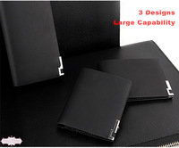 High Quality Ultra - Thin Men Wallets Fashion Male Long Or Short Black Geniune Leather Wallet Cowhide Purse Gift For Men