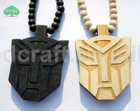 4PC/LOT New Arrival Hip hop Wooden pendent necklace good wood beads necklace