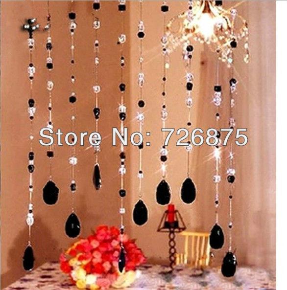 Acrylic crystal bead curtain background wall curtain handmade curtains Free shipping curtains(China (Mainland))