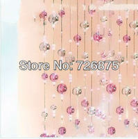 On sale! Imitated crystal acrylic bead curtain for entranceway partition powder