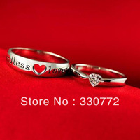 2014 lingering love couple rings 925 silver sterling heart ring for women Valentine's Day Gift  fashion jewelry wedding ring