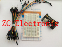 3.3V/5V Breadboard power module+ 400 points Solderless Prototype Bread board kit +65 Flexible jumper wires for arduino