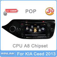 Car DVD for KIA Ceed 2013 Auto Multimedia Player 1080P with Bluetooth Radio GPS 3G/WiFi/DVR Optional CPU 1GHz