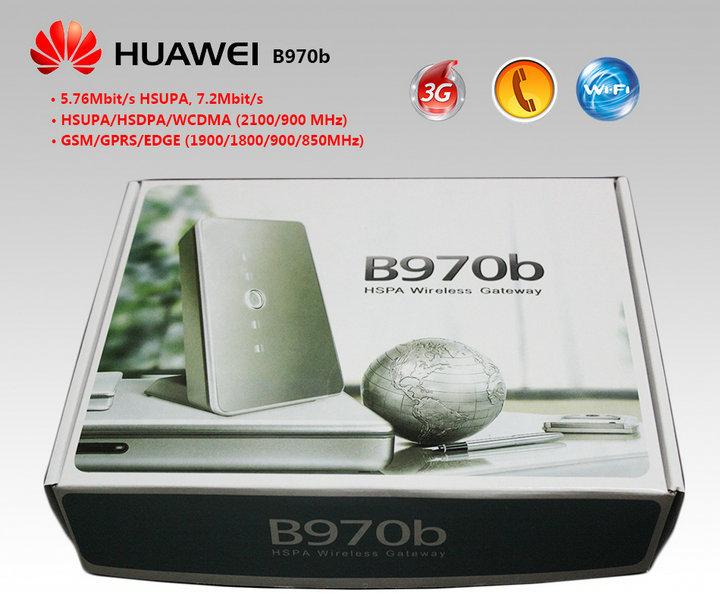10pcs/lot New Huawei B970b 3G WiFi SIM WCDMA /EDGE /GPRS /Wireless router Fully unlocked / EMS Free shipping(China (Mainland))