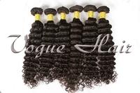 Grade AAAAA 100% virgin human hair 4pcs/lot malaysian deep wave weft  free shipping