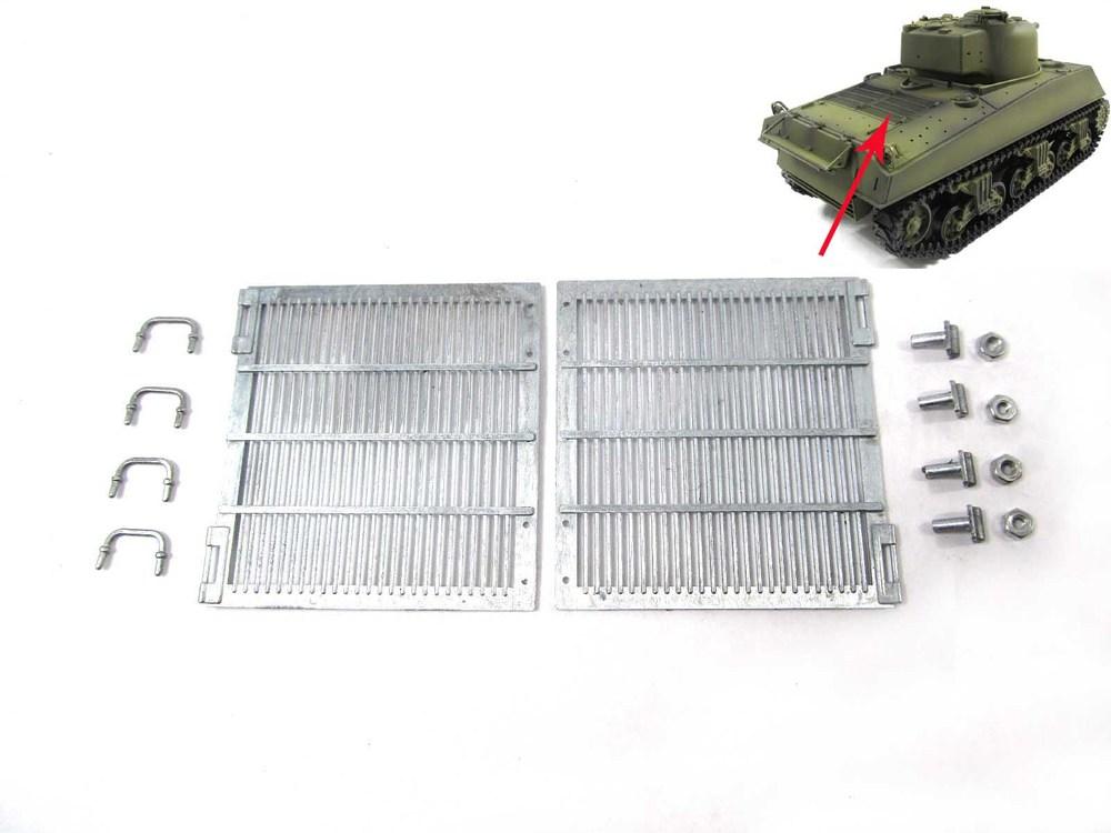 Mato metal upgraded parts Metal engine grills for 1/16 1:16 RC Sherman tank, , Heng Long upgrade part(China (Mainland))