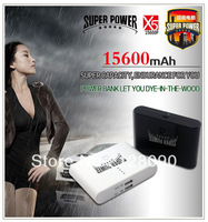 Brand new 15600mAh Power Bank External Battery Mobile Charger for iPhone HTC Samsung portable battery