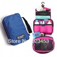 Travel mate Holiday Portable Colorful Hanging Multi-functional Nylon waterproof wash toiletry bags Pouch Storage Bag