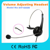 100R call center RJ11 headset use in communication with microphone