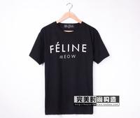 hot selling men's women's line print t-shirt cotton short sleeve t-shirt shirts tops tees free shipping