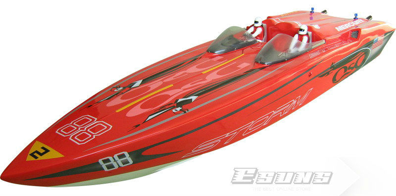 Freeshipping RC boat,26cc,Gas Powered Large Boats R/C model Storm 1300GP(B)-RTR(Pistol Transmitter) RC toys(China (Mainland))