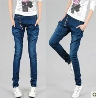 Free Shipping 2015 New Women Jeans harem pants Trousers Denim Plus Size Best Quality Fast Delivery