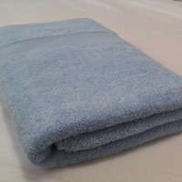 100% cotton bath towel 70x140cm 380grams twisted loop hotel bath towel blue color