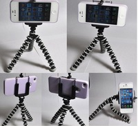 Free Shipping +Tracking Number 1PC Mini Flexible Tripod +1PC Phone Stand Holder for Android Mobilephone