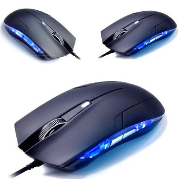 2013 New Arrival Hot Sale Cobra Optical 1600 DPI USB Wired Gaming Game Mouse For Games PC Laptop Black Free shipping &wholesale