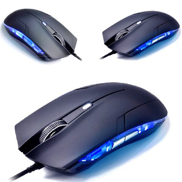 2013 New Arrival Hot Sale Cobra Optical 1600 DPI USB Wired Gaming Game Mouse For Games PC Laptop Black Free shipping &wholesale(China (Mainland))