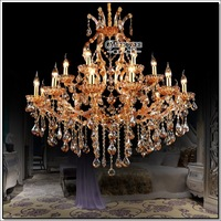 High Quality Maria Theresa Crystal Chandelier Light Large Crystal Pendant Lamp Big Amber Chandelier Light Prompt Shipping