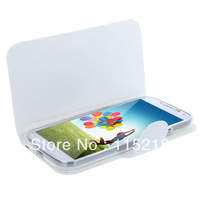 2013 Free Shipping Elegant Artificial Flip Leather Case Cover for Samsung Galaxy S4 i9500 i9505 4 Colores