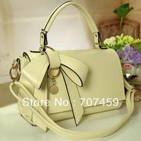 Free Shiping! 2013 Spring and Summer Female Bags Bow Bag Barrel Messenger Bag