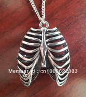 Anatomical Human Rib Cage Anatomy Necklace
