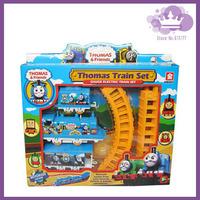 1 Set Thomas Train Toys Electric Rail Train Thomas & Friends Mini Electric Train Set Track Toy for Kids with Retail Box