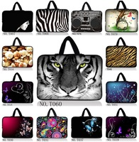 "Many Designs White Tiger 10"" Laptop Sleeve Case Bag Cover +Handle For ipad 4 3 2 1 Samsung GALAXY Note 10.1"" Tablet"