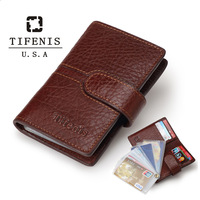 2014 New Fashion genuine leather men credit card holders hasp women card bag card case free shipping