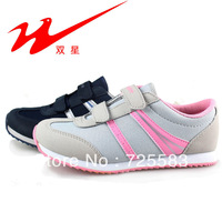 Qingdao double star 80e35 women's jogging velcro fashion wear-resistant light sport shoes