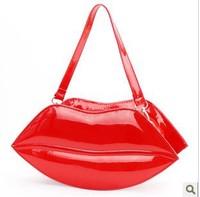 Free Shipping New Fashion Sexy Lips Clutch Bag PU Leather Women Kiss bag, Messenger Bag Handbag Party Bag Shoulder Bag BG1343