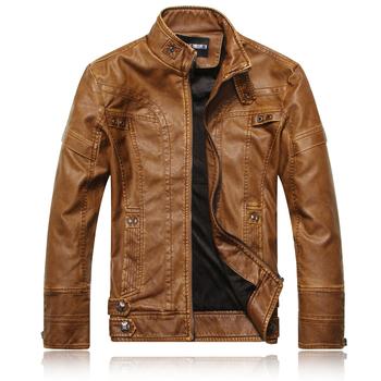 2013 new fashion brand motorcycle genuine leather clothing ,men's leather jacket,  Free Shipping