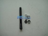 MUGEN For Honda Carbon Antenna Fiber Black Short 4.7 inch CR-V Accord Civic