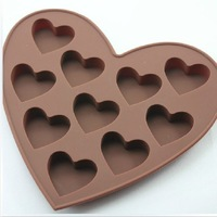 DIY Silicone Cake Chocolate Soap Mold Love the shape a little love silicone bakeware 10pcs/lot Free shipping wholesale