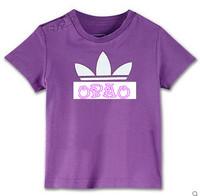 Free shipping!!2013 children's t-shirt 5pcs/lot cartoon clothing short sleeve gray sport t shrits
