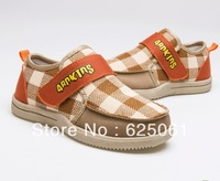 Freeshipping! The New! 2013 breathable boys&girls shoes Gingham children Sneakers sports shoes