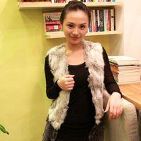 high quality  2014 New Rabbit fur Gilet Waistcoat 100% Natural Rabbit fur Vest In stock