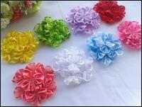 Baby Headbands 3.5inch  Satin lace flower Baby Girls Headbands Accessories.30pcs/lot