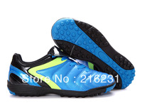 2013  kids indoor soccer shoes Jingong Cup 1088# TF Football Boots men's soccer boots  kids soccer bule black  size 30-44