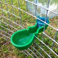 POP WATER BOTTLE FOUNTAIN DRINKER WITH SPRING HEN QUAIL CHICKEN PIGEONS BIRD