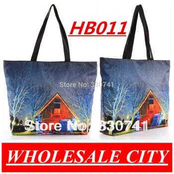 2013 Retro Holland Digital Printing Female Students Handbag Shopping  Canvas  LAPTOP Ipad Recycle Totes HB011